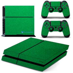 Adesivo Skin Playstation 4 PS4 Fat Pelicula Metalico Brilho Verde