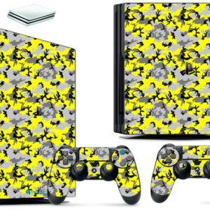 Adesivo Skin Playstation 4 PS4 Pro Pelicula Camo Yellow