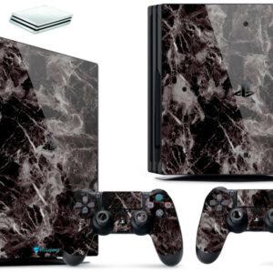 Adesivo Skin Playstation 4 PS4 Pro Pelicula Marmore Nero