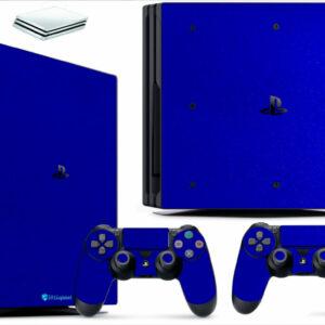Adesivo Skin Playstation 4 PS4 Pro Pelicula Metalico Brilho Azul