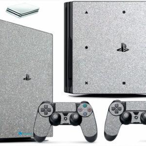 Adesivo Skin Playstation 4 PS4 Pro Pelicula Metalico Brilho Cinza