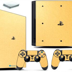 Adesivo Skin Playstation 4 PS4 Pro Pelicula Metalico Brilho Gold