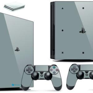 Adesivo Skin Playstation 4 PS4 Pro Pelicula Vinil Brilho Cor Cinza