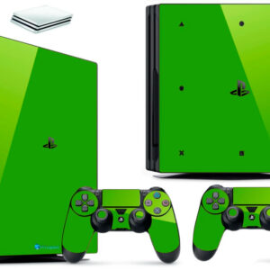 Adesivo Skin Playstation 4 PS4 Pro Pelicula Vinil Brilho Cor Verde