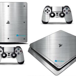 Adesivo Skin Playstation 4 Slim Pelicula Cromo Escovado