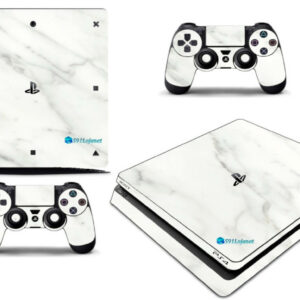 Adesivo Skin Playstation 4 Slim Pelicula Marmore Bianco