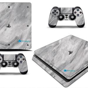 Adesivo Skin Playstation 4 Slim Pelicula Marmore Carrara