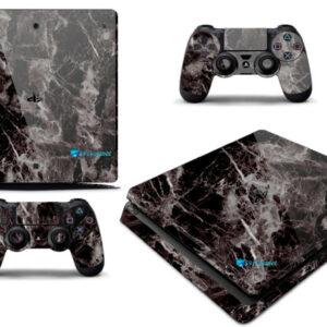 Adesivo Skin Playstation 4 Slim Pelicula Marmore Nero