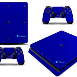 Adesivo Skin Playstation 4 Slim Pelicula Metalico Brilho Azul