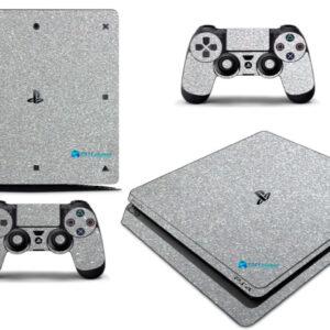 Adesivo Skin Playstation 4 Slim Pelicula Metalico Brilho Cinza