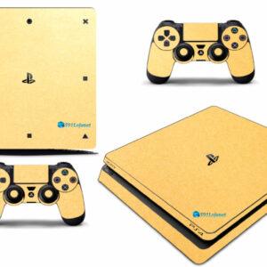 Adesivo Skin Playstation 4 Slim Pelicula Metalico Brilho Gold
