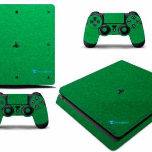 Adesivo Skin Playstation 4 Slim Pelicula Metalico Brilho Verde