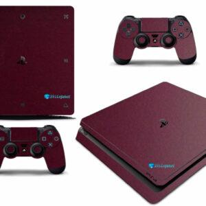 Adesivo Skin Playstation 4 Slim Pelicula Metalico Malbec