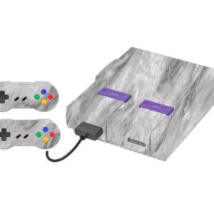 Adesivo Skin Super Nintendo Snes Pelicula Marmore Carrara