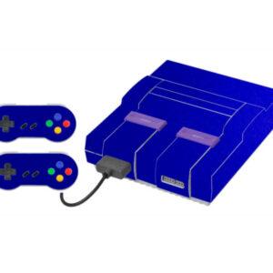 Adesivo Skin Super Nintendo Snes Pelicula Metalico Brilho Azul
