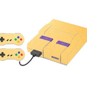 Adesivo Skin Super Nintendo Snes Pelicula Metalico Brilho Gold