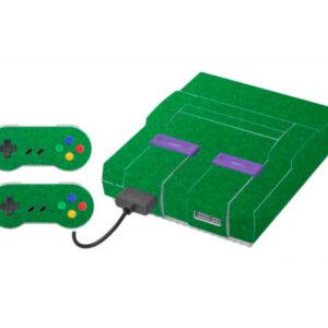 Adesivo Skin Super Nintendo Snes Pelicula Metalico Brilho Verde