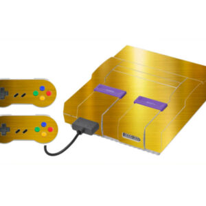 Adesivo Skin Super Nintendo Snes Pelicula Ouro Cromo Escovado