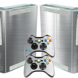 Adesivo Skin Xbox 360 Fat Pelicula Cromo Escovado