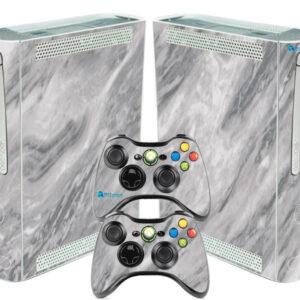 Adesivo Skin Xbox 360 Fat Pelicula Marmore Carrara