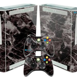 Adesivo Skin Xbox 360 Fat Pelicula Marmore Nero