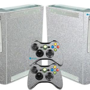 Adesivo Skin Xbox 360 Fat Pelicula Metalico Brilho Cinza