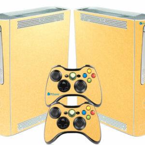 Adesivo Skin Xbox 360 Fat Pelicula Metalico Brilho Gold