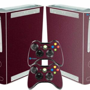 Adesivo Skin Xbox 360 Fat Pelicula Metalico Malbec