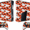 Adesivo Skin Xbox 360 Slim Pelicula Camo Red