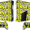 Adesivo Skin Xbox 360 Slim Pelicula Camo Yellow