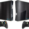 Adesivo Skin Xbox 360 Slim Pelicula Dark Escovado