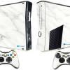 Adesivo Skin Xbox 360 Slim Pelicula Marmore Bianco