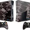 Adesivo Skin Xbox 360 Slim Pelicula Marmore Nero