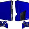 Adesivo Skin Xbox 360 Slim Pelicula Metalico Brilho Azul