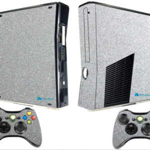 Adesivo Skin Xbox 360 Slim Pelicula Metalico Brilho Cinza