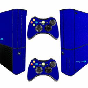 Adesivo Skin Xbox 360 Super Slim Pelicula Metalico Brilho Azul