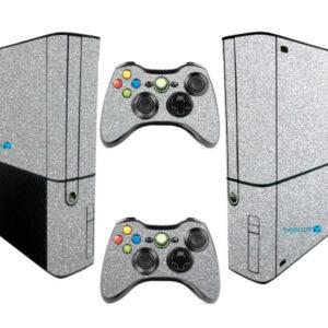 Adesivo Skin Xbox 360 Super Slim Pelicula Metalico Brilho Cinza