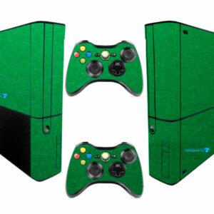 Adesivo Skin Xbox 360 Super Slim Pelicula Metalico Brilho Verde