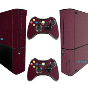 Adesivo Skin Xbox 360 Super Slim Pelicula Metalico Malbec