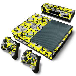 Adesivo Skin Xbox One Fat Pelicula Camo Yellow