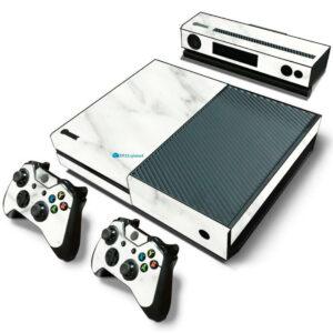 Adesivo Skin Xbox One Fat Pelicula Marmore Bianco