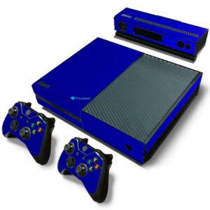 Adesivo Skin Xbox One Fat Pelicula Metalico Brilho Azul