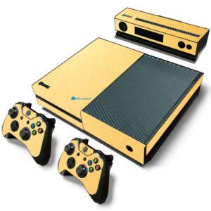 Adesivo Skin Xbox One Fat Pelicula Metalico Brilho Gold