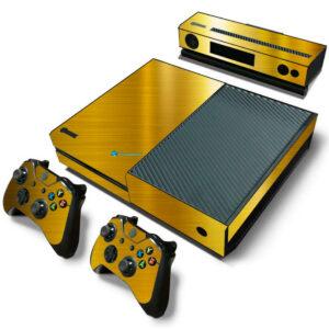 Adesivo Skin Xbox One Fat Pelicula Ouro Cromo Escovado