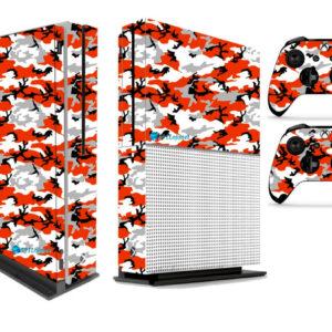 Adesivo Skin Xbox One S Pelicula Camo Red