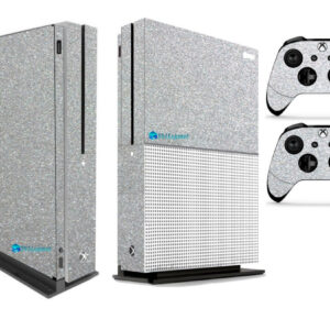 Adesivo Skin Xbox One S Pelicula Metalico Brilho Cinza