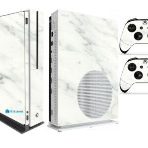 Adesivo Skin Xbox One S V2 Pelicula Marmore Bianco