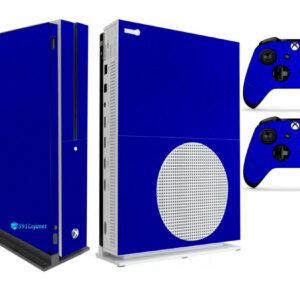 Adesivo Skin Xbox One S V2 Pelicula Metalico Brilho Azul