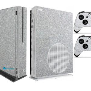 Adesivo Skin Xbox One S V2 Pelicula Metalico Brilho Cinza