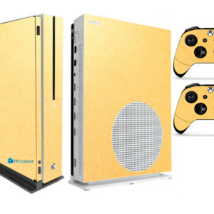 Adesivo Skin Xbox One S V2 Pelicula Metalico Brilho Gold
